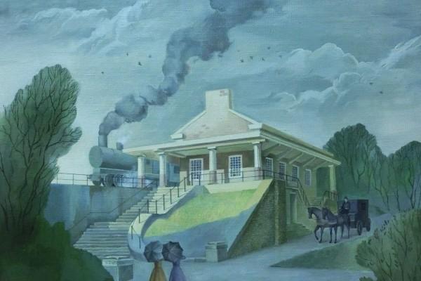 Станция. Прибытие поезда