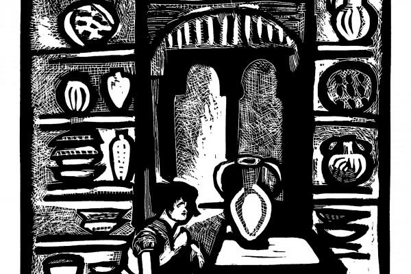 Лист № 1. Из серии по мотивам «Европейских новелл»  В.А. Жуковского