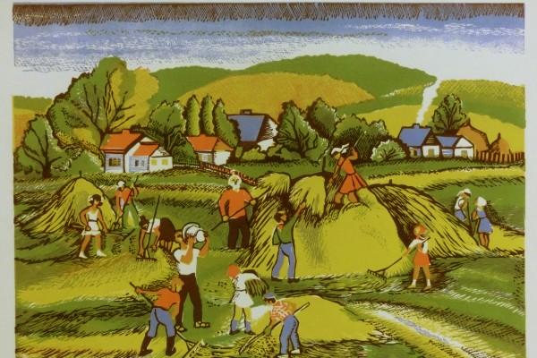 Пионеры на уборке сена