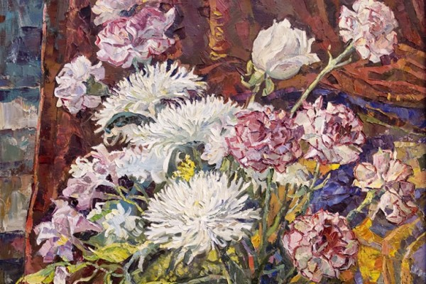 Хризантемы и гвоздики