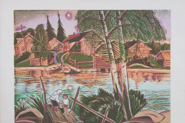 Деревня на реке Волхов